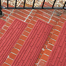 Weather Guard™ Broken Brick 30-Inch x 8.5-Inch Stair Treads in Red (Set of 2)