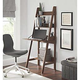 Contemporary 3-Shelf Ladder Desk in Canyon Walnut