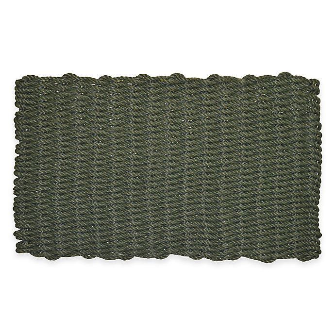 Alternate image 1 for Nature by Geo Crafts Mighty Mariner 24-Inch x 39-Inch Reversible Outdoor Mat in Green