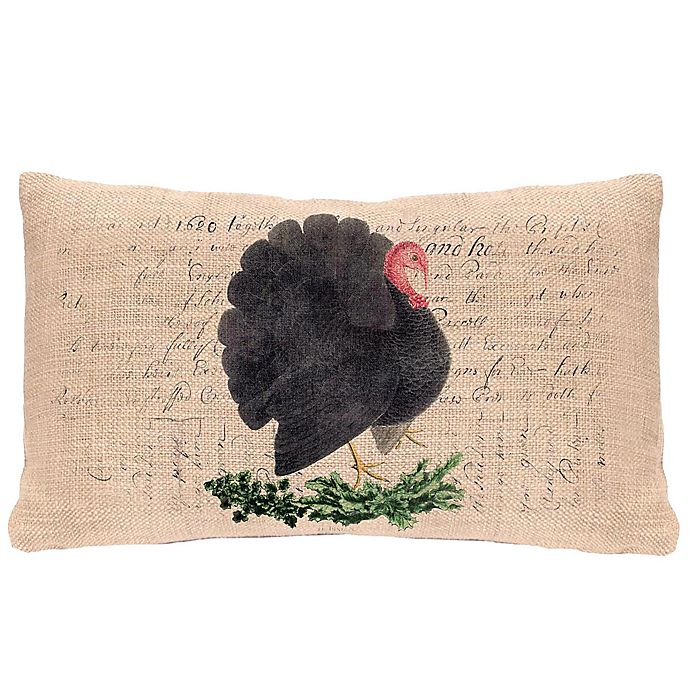 Heritage Lace 174 Thanksgiving Turkey Oblong Throw Pillow