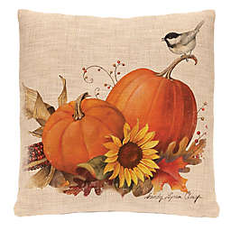 Heritage Lace® Harvest Pumpkin Square Throw Pillow