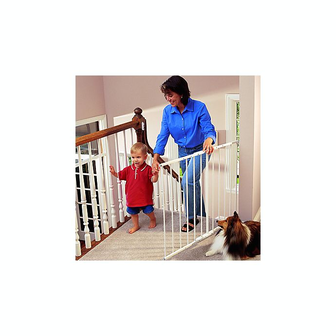 Kidco White Safeway Wall Mount Safety Gate And Extension Gate