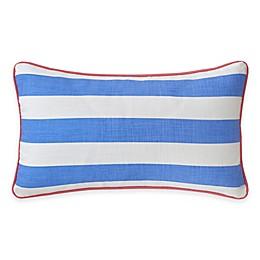 Southern Tide® Coastal Ikat Stripe Oblong Throw Pillow in Cool Blue