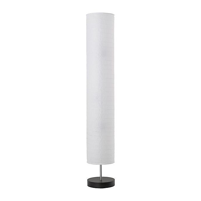 Paper Shade 3 Light Floor Lamp In White Black Bed Bath Beyond