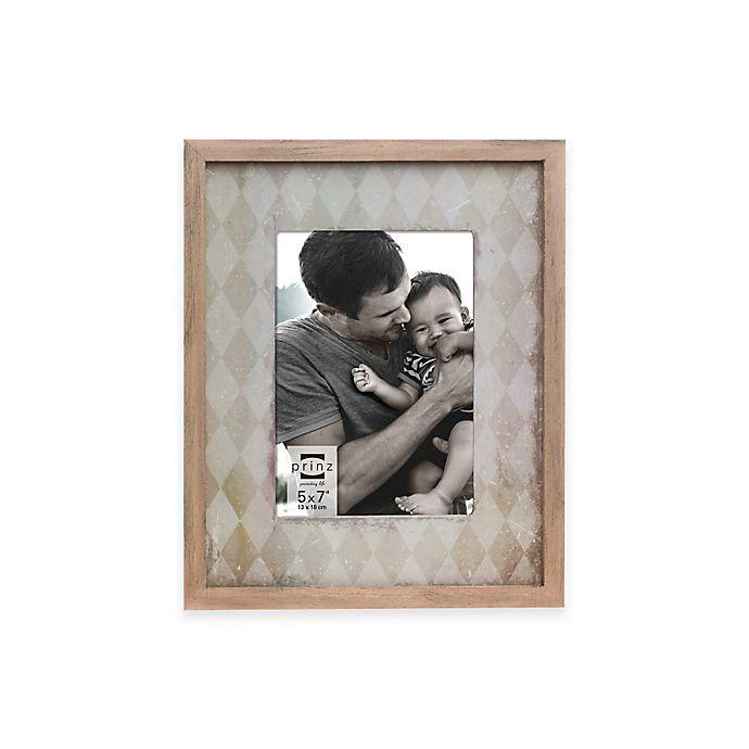 Alternate image 1 for Prinz 5-Inch x 7-Inch Harlequin Wood Frame