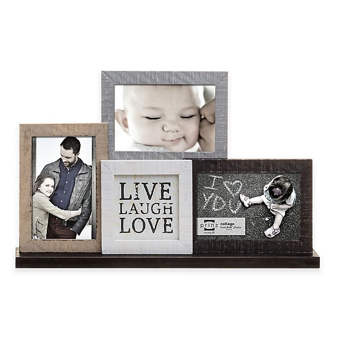 Prinz Sweet Water 3 Photo Live Love Laugh Mantle Collage Frame