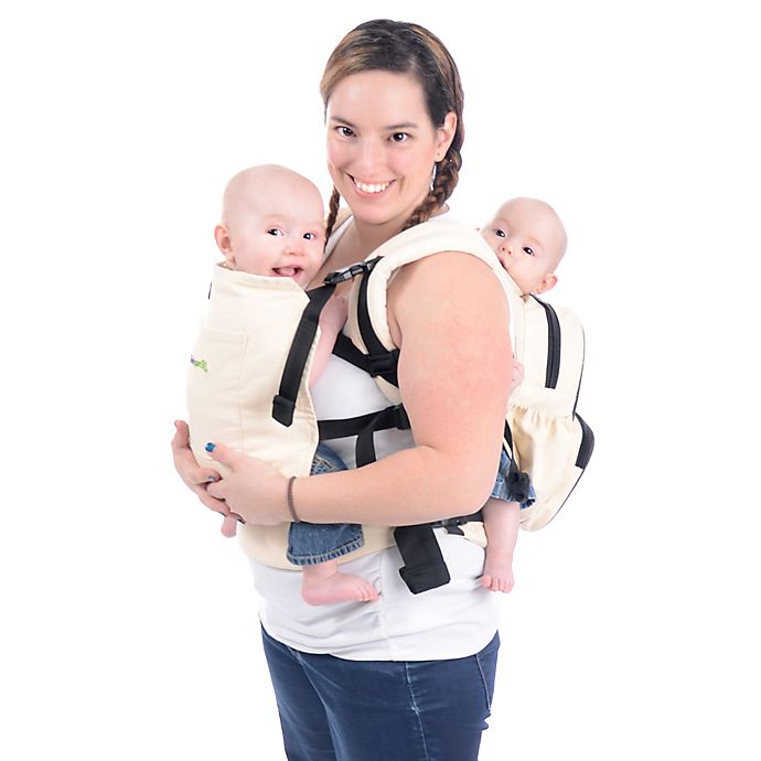 Alternate image 1 for Stuff 4 Multiples Twingaroo Tandem Double Baby Carrier in Khaki