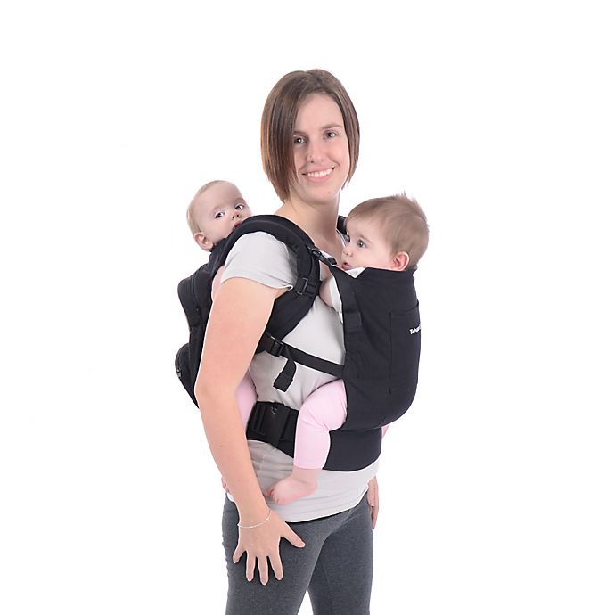 Alternate image 1 for Stuff 4 Multiples Twingaroo Tandem Double Baby Carrier in Black