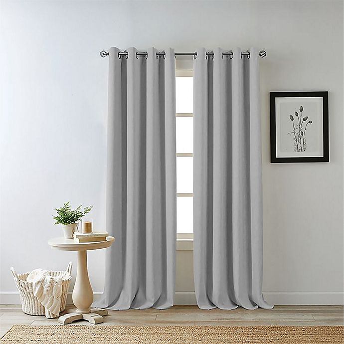 Alternate image 1 for Bee & Willow™ Home Hadley 54-Inch 100% Blackout Curtain Panel in Light Grey (Single)