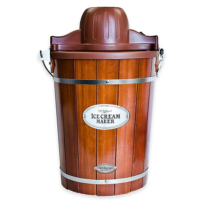 Alternate image 1 for Nostalgia™ 6-Quart Wooden Bucket Ice Cream Maker