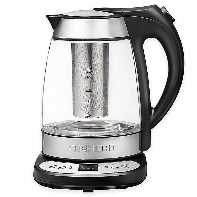 Chefman Precision Cordless Electric Glass Kettle Bed