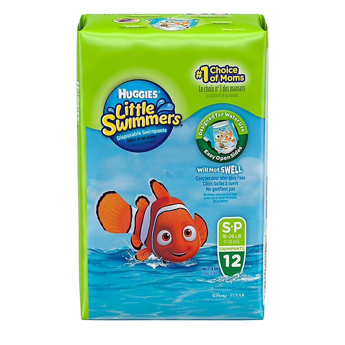 Alternate image 1 for Huggies® Little Swimmers Small Disposable Swimpants (12 Count)