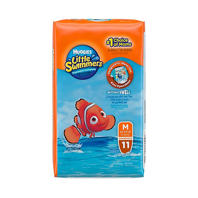 Alternate image 1 for Huggies® Little Swimmers Medium Disposable Swimpants (11 Count)