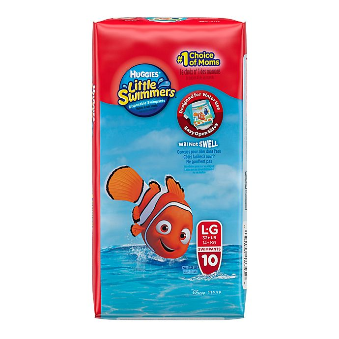 Alternate image 1 for Huggies® Little Swimmers Large Disposable Swimpants (10 Count)
