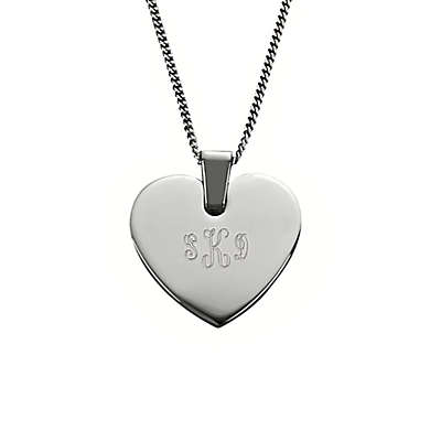 Stainless Steel 18-Inch Chain Heart Pendant Necklace
