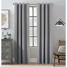 Commonwealth Home Fashions Maya 108-Inch Grommet 100% Blackout Curtain Panel in Grey (Single)