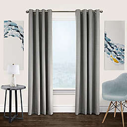 Commonwealth Home Fashions Newberry 100% Blackout Curtain Panel in Greige (Single)