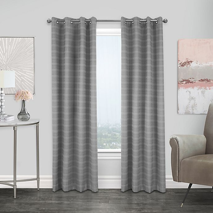 Alternate image 1 for Commonwealth Home Fashions Mendez Grommet 100% Blackout Curtain Panel  (Single)
