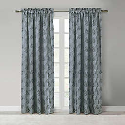 Commonwealth Home Fashions Calder 2-Pack 84-Inch Rod Pocket Window Curtain Panels in Blue