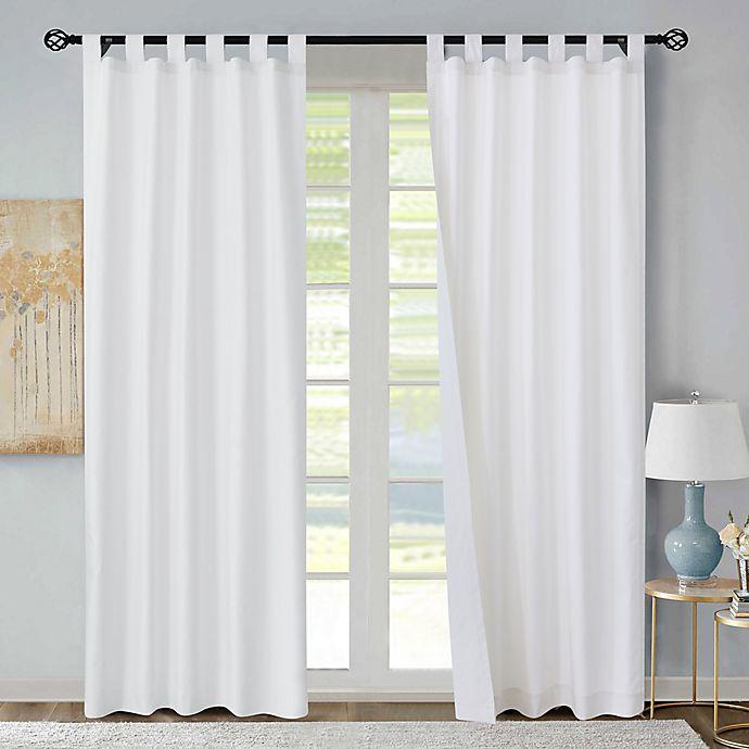 Alternate image 1 for Thermalogic® Weathermate Room Darkening Tab Top Window Curtain Panels (Set of 2)