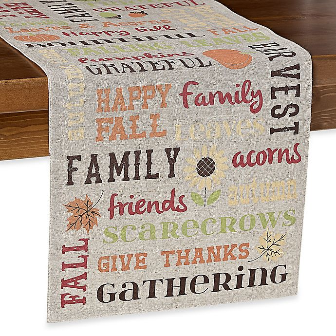 Alternate image 1 for 72-Inch Bountiful Words Table Runner