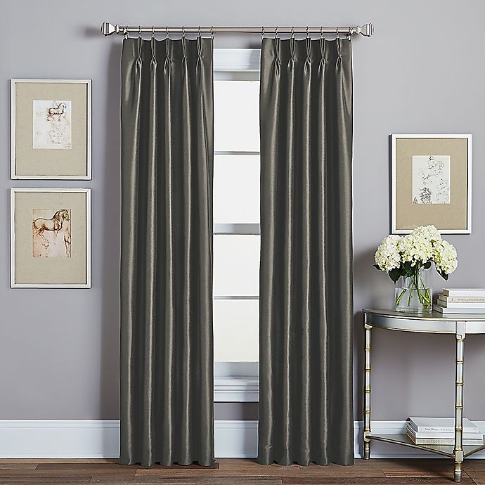 Alternate image 1 for Spellbound Pinch-Pleat 95-Inch Rod Pocket Lined Window Curtain Panel in Pewter