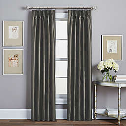 Spellbound Pinch-Pleat 84-Inch Rod Pocket Lined Window Curtain Panel in Pewter
