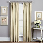 Spellbound Pinch-Pleat 84-Inch Rod Pocket Lined Window Curtain Panel in Champagne