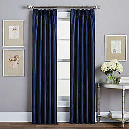 Spellbound Pinch-Pleat 84-Inch Rod Pocket Lined Window Curtain Panel in Indigo