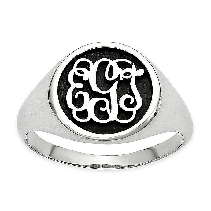 Alternate image 1 for 14K White Gold Size 7 Ladies' Script Letters Ring