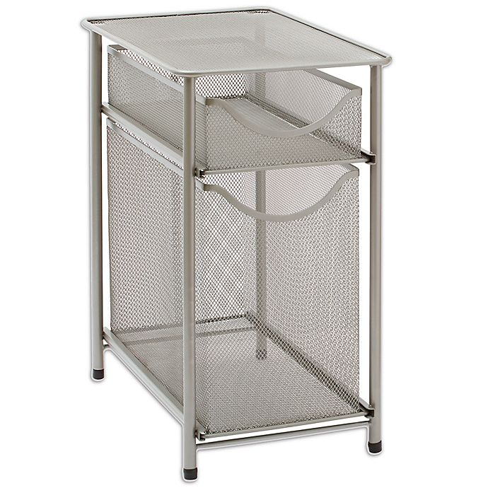 Alternate image 1 for ORG 2-Tier Metal Mesh Cabinet Drawer in Nickel