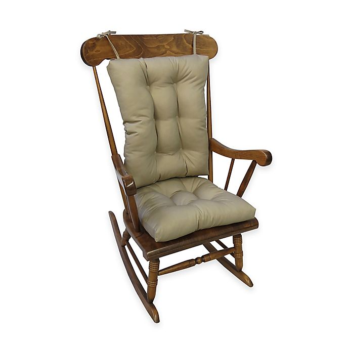 Alternate image 1 for Klear Vu Twill Universal  X-Large 2-Piece Rocking Chair Pad Set  in Brownstone