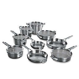 Calphalon® Premier™ Space Saving Stainless Steel 15-Piece Cookware Set