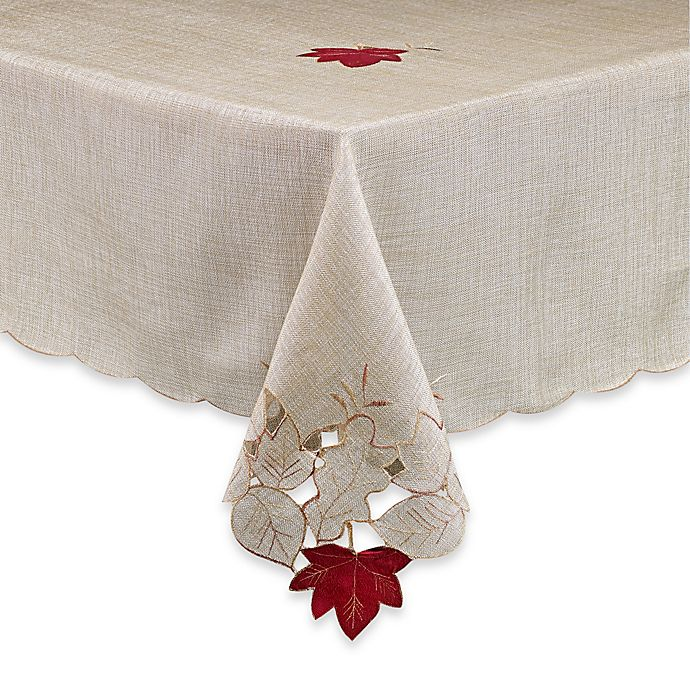 Alternate image 1 for Fall Foliage 60-Inch x 120-Inch Oblong Tablecloth