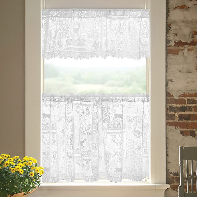 Alternate image 1 for Woodland Patch Window Valance in White