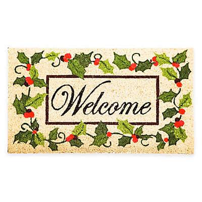 Holly Welcome 16-Inch x 28-Inch Door Mat