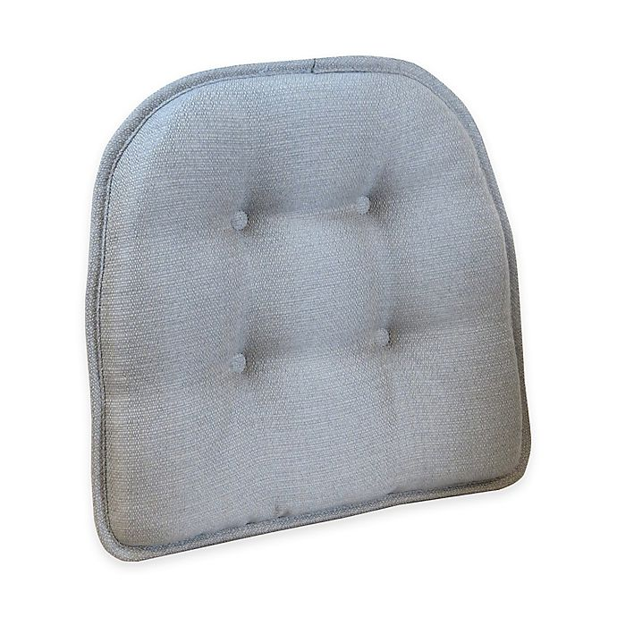 Alternate image 1 for Klear Vu Tufted Omega Gripper® Chair Pad in Grey