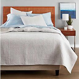 Nestwell™ Stripe Texture 3-Piece King Quilt Set in Grey