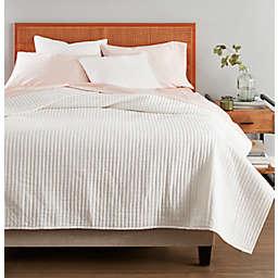 Nestwell™ Stripe Texture 3-Piece King Quilt Set in Coconut Milk