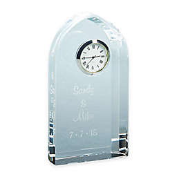 6-Inch Arched Optic Crystal Clock