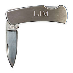 3-Inch Locking Stainless Steel Pocket Knife in Pewter