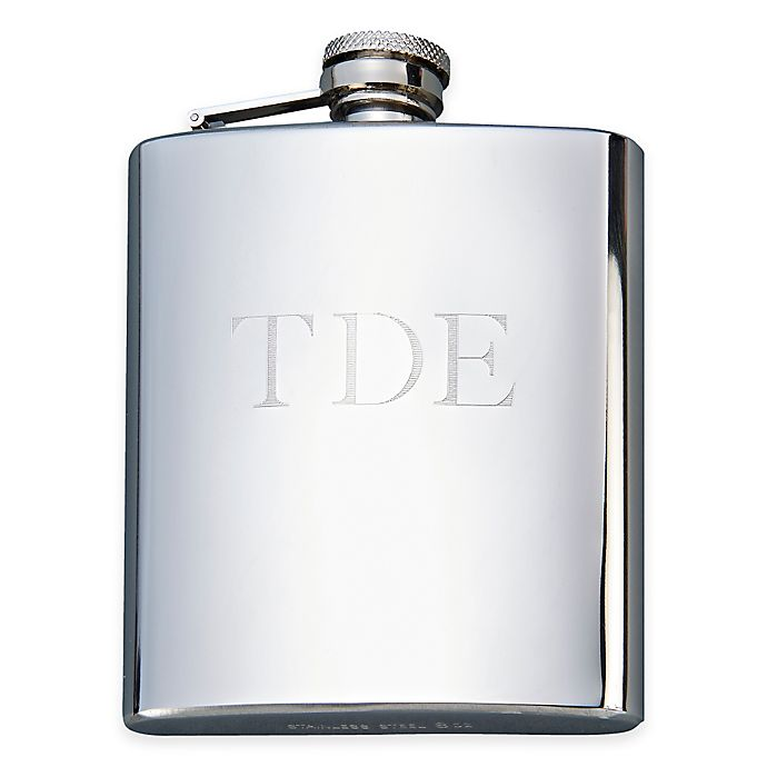 Alternate image 1 for 8 oz. Polished Stainless Steel Flask in Silver