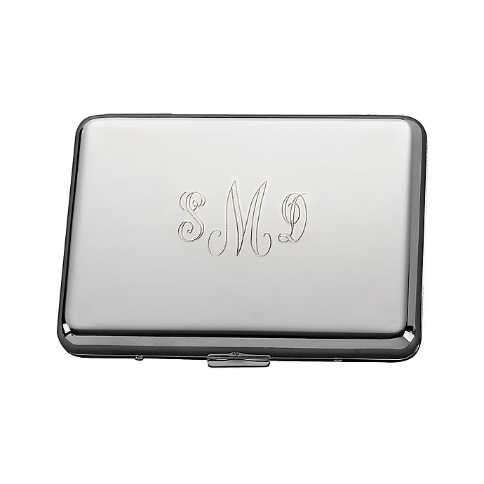 Alternate image 1 for Accordion-Style Metal Card Case in Silver