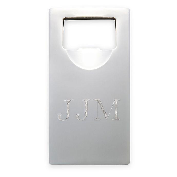 Alternate image 1 for 4-Inch Rectangular Bottle Opener in Silver