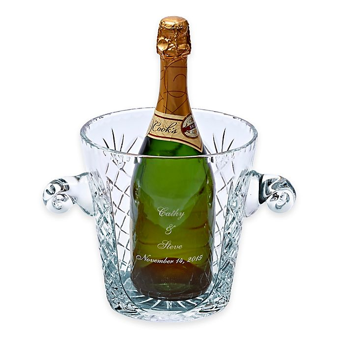Alternate image 1 for Crystal Medallion Ice Bucket with Handles