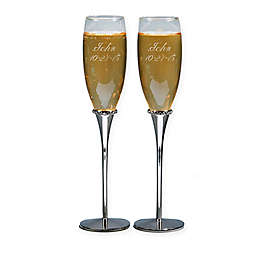 Crystal Accented Toasting Flutes Set Of 2