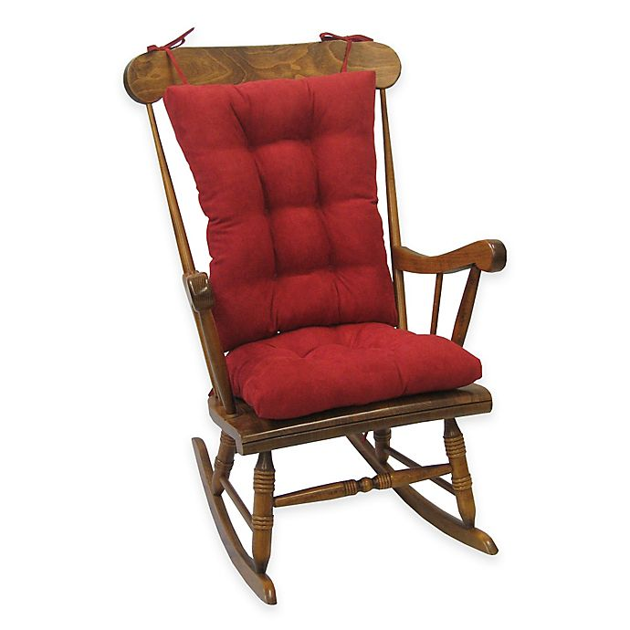 Alternate image 1 for Klear Vu Twillo Universal Extra-Large 2-Piece Rocking Chair Pad Set in Red