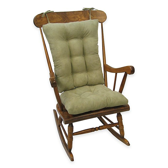 Alternate image 1 for Klear Vu Twillo Universal Extra-Large 2-Piece Rocking Chair Pad Set in Thyme