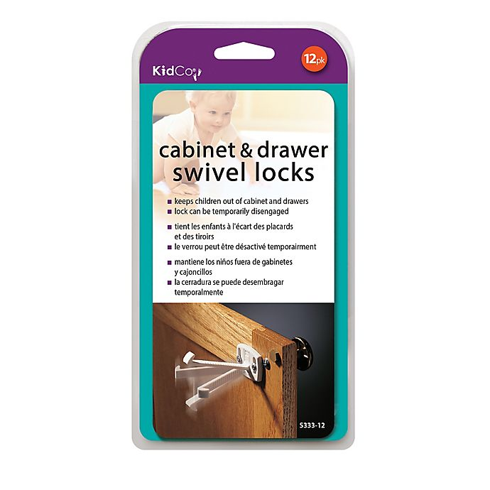 Alternate image 1 for Kidco 12-Pack Swivel Cabinet and Drawer Locks in White