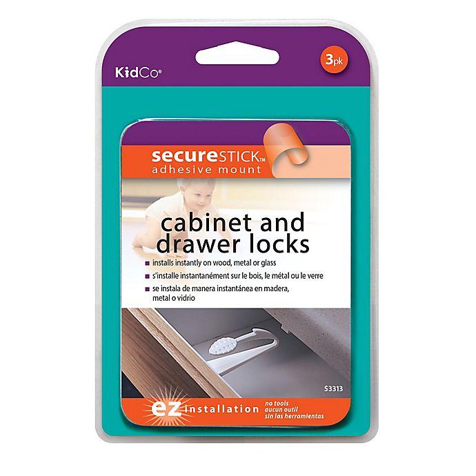 Alternate image 1 for Kidco® Adhesive Mount Cabinet & Drawer Lock (3-Pack)